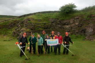 Crindledykes Quarry volunteers