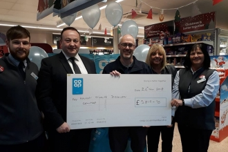 Co-op Amble cheque presentation