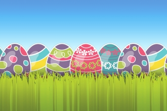 Easter egg header