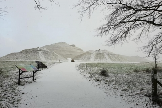Northumberlandia snow winter - Wayne Henderson