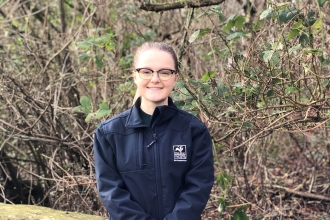 Conservation Assistant Alice McCourt - Duncan Hutt